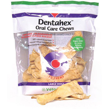 Dentahex Oral Care Chews for Dogs - Large 18 oz