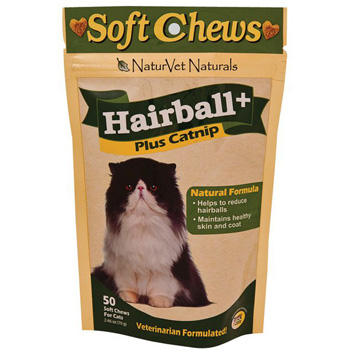 Naturvet Hairball Plus Catnip Soft Chews
