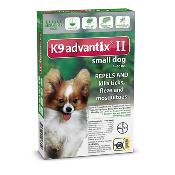 K9 Advantix II Small Dogs 4-10 lb 6 Dose
