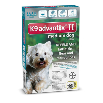 K9 Advantix II Medium Dogs 11-20 lb 6 Dose
