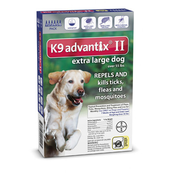 K9 Advantix II Extra Large Dogs Over 55 lb 6 Dose