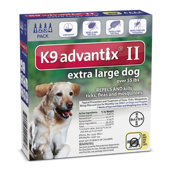 K9 Advantix II  Extra Large Dogs Over 55 lb  4 Dose