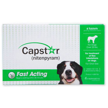Capstar Green Dogs 26-125 lb  6 pk