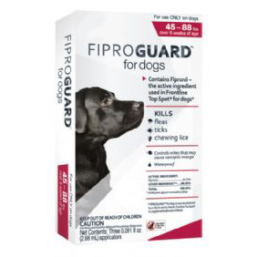 Fiproguard for Dogs 45-88 lb  3 Dose