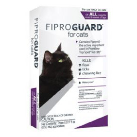 Fiproguard Flea and Tick for Cats Over 1.5 lb  3 Dose
