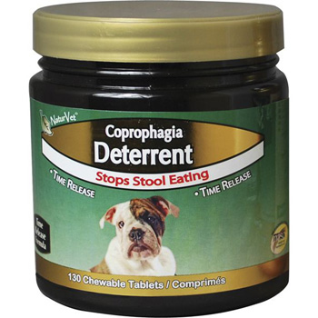 NaturVet Coprophagia Stool Eating Deterrent Plus Breath Aid Chewablebe Tablets for Dogs 130 ct