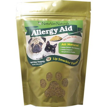 NaturVet Aller-911 Skin & Coat Plus Advanced Allergy Aid Formula Plus Antioxidants For Dogs and Cats 9 oz