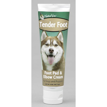 NaturVet Tender Foot, Pad & Elbow Topical Moisturizing Cream for Cats, Puppies and Dogs 5 oz