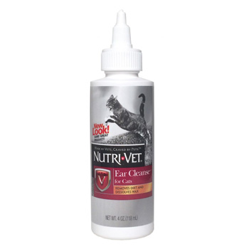 Nutri-Vet Ear Cleansing Liquid for Cats 4 oz