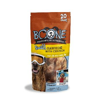 Boone Rawhide with Chicken, Small, 20 count