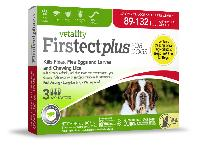 Vetality Firstect Plus for Dogs, 89-132 Pounds, 3 Doses
