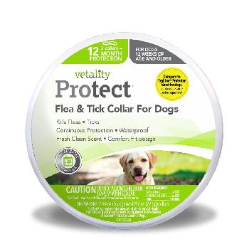 Vetality ProTect Flea and Tick Collar for Dogs, 2 Count