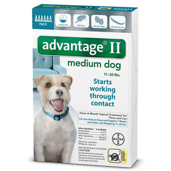 Bayer Advantage II Medium Dogs 11-20 lb  6 Dose