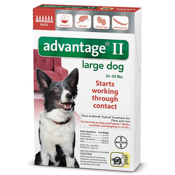 Bayer Advantage II Large Dogs 21-55 lb   6 Dose