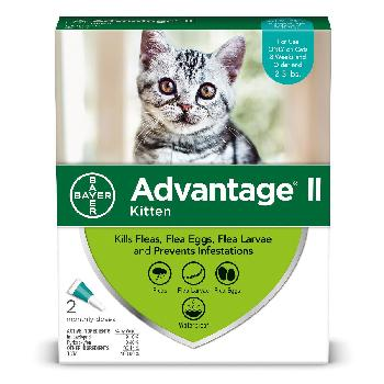 Bayer Advantage II Kittens 2-5 lb 2 Dose