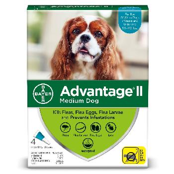 Bayer Advantage II for Medium Dogs, 11-20 pounds, 4 doses