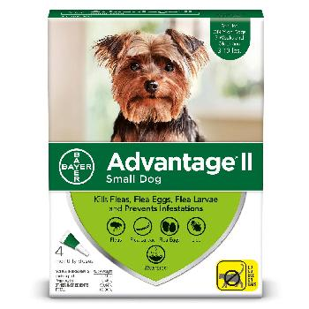 Bayer Advantage II for Small Dogs, 3-10 pounds, 4 doses