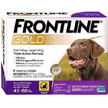 Frontline Gold for Dogs, 45-88 pounds, 3 doses