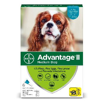 Bayer Advantage II for Medium Dogs, 11-20 pounds, 6 doses