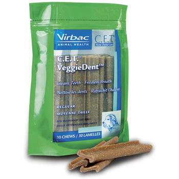 C.E.T. VeggieDent Chews Regular 30 ct