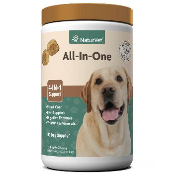 NaturVet All-In-One Soft Chews for Dogs 120 count