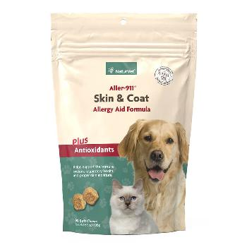 NaturVet Aller-911 Skin & Coat Soft Chews Plus Antioxidants for Dogs and Cats, 90 count