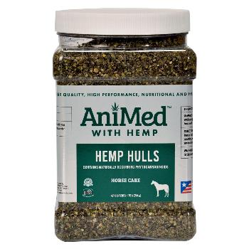 Hemp Hulls for Horses, AniMed with Hemp, 1.75 pounds