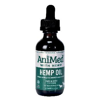 AniMed Hemp Oil for Dogs and Cats, 2 ounces
