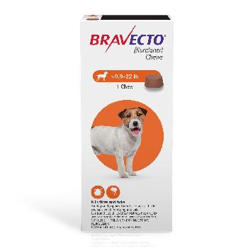 Bravecto Chews (fluralaner) Flea and Tick Treatment for Dogs by Merck, 9.9-22 lbs, 250 mg, 1 ct