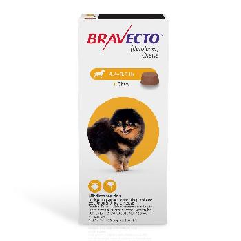 Bravecto Chews (fluralaner) Flea and Tick Treatment for Dogs by Merck, 4.4-9.9 lbs, 112.5 mg, 1 ct