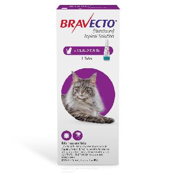 Bravecto Topical Solution for Cats (fluralaner) 13.8-27.5 lbs., 1 dose