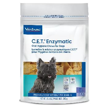 C.E.T. Enzymatic Oral Hygiene Chews for Dogs, 11-25 pounds, 30 count