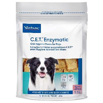 C.E.T. Enzymatic Oral Hygiene Chews for Dogs, 26-50 pounds, 30 count