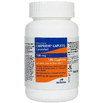 Carprieve Caplets (carprofen), 100 mg, 180 count