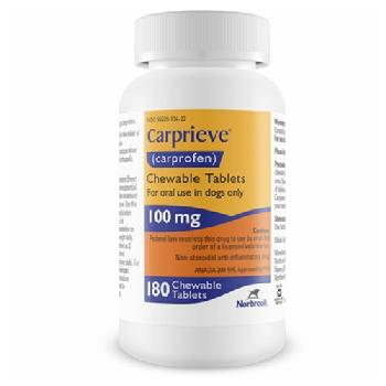 Carprieve Chewable Tablets (carprofen), 100 mg, 180 count