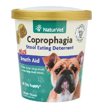 NaturVet Coprophagia Stool Eating Deterrent Plus Breath Aid Soft Chews, 70 count