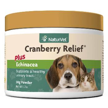 NaturVet Cranberry Relief Powder Plus Echinacea for Dogs and Cats, 50 grams