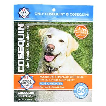 Cosequin Maximum Strength Soft Chews with MSM Plus Omega3s, 60 count