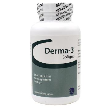 Derma-3 Softgel Capsules Large Dog, 60 ct