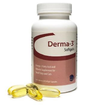 Derma-3 Softgel Capsules Small Dog & Cat, 60 ct