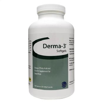 Derma-3 Softgel Capsules Large Dog, 250 ct