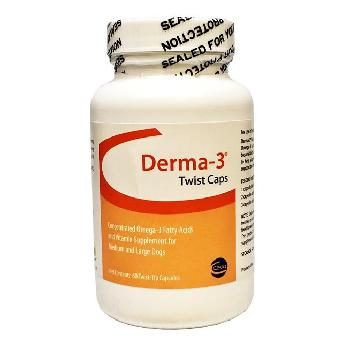 Derma-3 Twist Caps Medium to Large Dogs, 60 ct