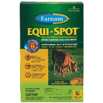 Equi-Spot Spot-On Protection for Horses, 3 doses, 6 week supply