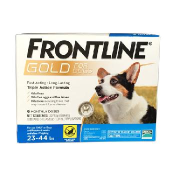 Frontline Gold for Dogs, 23-44 pounds, 3 doses