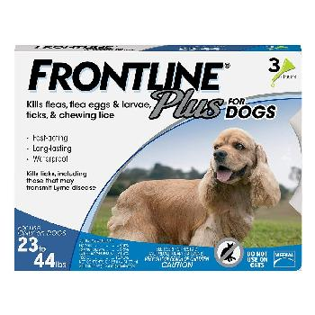Frontline Plus for Dogs, 23-44 pounds, 3 doses