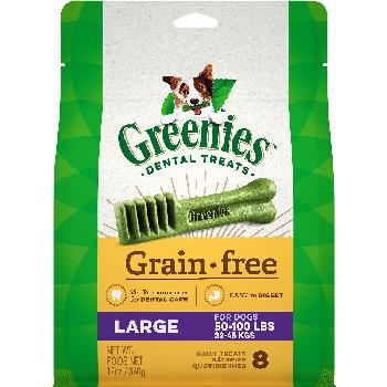 Greenies Grain Free Large Dog Dental Treats, 12 ounces, 8 count