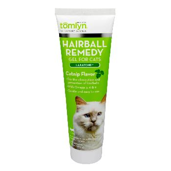 Tomlyn Laxatone Hairball Remedy Gel for Cats, Catnip Flavored, 4.25 oz