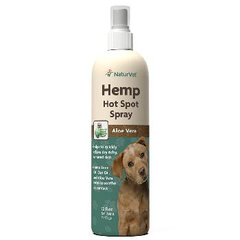 NaturVet Hemp Hot Spot Spray for Dogs, 12 oz
