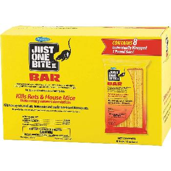Just One Bite II Bar, Rat & Mouse Killer, 8 count of 1-pound bars