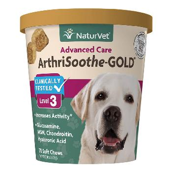 NaturVet ArthriSoothe-GOLD Advanced Care Soft Chews 70 count
